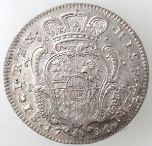 reverse: Napoli. Carlo VI. 1711-1734. Mezzo Ducato 1716. Ag.