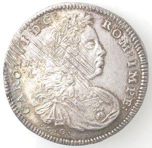 obverse: Napoli. Carlo VI. 1711-1734. Mezza Piastra 1730. Ag.