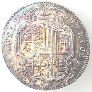 reverse: Napoli. Carlo VI. 1711-1734. Mezza Piastra 1730. Ag.