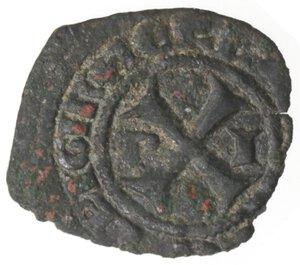 obverse: Napoli. Giovanna I d Angiò e Ludovico di Taranto. 1347-1362. Denaro. Mi.