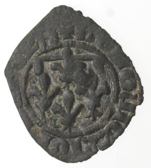 reverse: Napoli. Giovanna I d Angiò e Ludovico di Taranto. 1347-1362. Denaro. Mi.