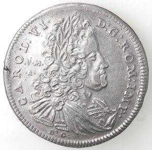 obverse: Napoli. Carlo VI. 1711-1734. Mezza Piastra 1732. Ag.