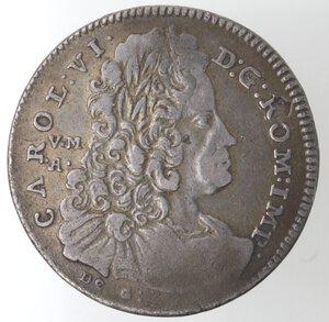 obverse: Napoli. Carlo VI. 1711-1734. Mezza Piastra 1733. Ag.