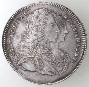 obverse: Napoli. Carlo di Borbone. 1734-1759. Piastra 1747. Firmata Securitas. Ag.