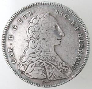obverse: Napoli. Carlo di Borbone. 1734-1759. Piastra 1750. Ag.