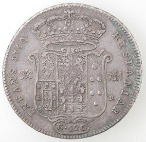 reverse: Napoli. Carlo di Borbone. 1734-1759. Piastra 1750. Ag.