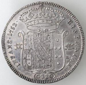 reverse: Napoli. Carlo di Borbone. 1734-1759. Piastra 1752. Ag.