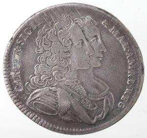 obverse: Napoli. Carlo di Borbone. 1734-1759. Mezza Piastra 1747. Firmata Securitas. Ag.