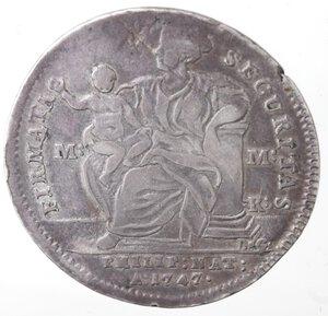 reverse: Napoli. Carlo di Borbone. 1734-1759. Mezza Piastra 1747. Firmata Securitas. Ag.