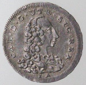 obverse: Napoli. Carlo di Borbone. 1734-1759. 5 Grana 1756. Ag.