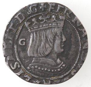 obverse: Napoli. Ferdinando d Aragona ed Elisabetta di Castiglia. 1503-1504. Carlino. Ag.