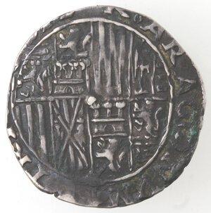 reverse: Napoli. Ferdinando d Aragona ed Elisabetta di Castiglia. 1503-1504. Carlino. Ag.