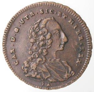 obverse: Napoli. Carlo di Borbone. 1734-1759. Grano 1756. Ae.