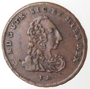 obverse: Napoli. Carlo di Borbone. 1734-1759. Tornese 1757. Ae.