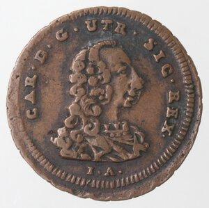 obverse: Napoli. Carlo di Borbone. 1734-1759. 4 Cavalli 1756. Ae.