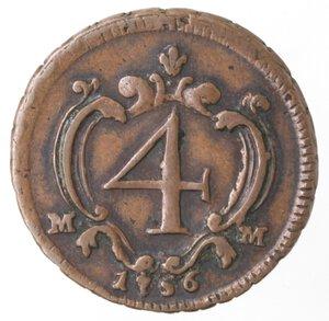 reverse: Napoli. Carlo di Borbone. 1734-1759. 4 Cavalli 1756. Ae.