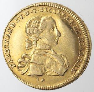 obverse: Napoli. Ferdinando IV. 1759-1798. 6 Ducati 1761. Au.
