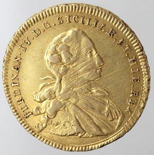 obverse: Napoli. Ferdinando IV. 1759-1799. 6 Ducati 1768 Senza sigle. Au.