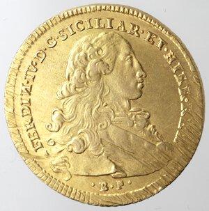 obverse: Napoli. Ferdinando IV. 1759-1798. 6 Ducati 1769. Au.