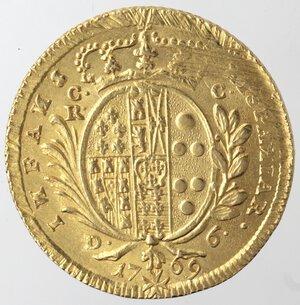 reverse: Napoli. Ferdinando IV. 1759-1798. 6 Ducati 1769. Au.