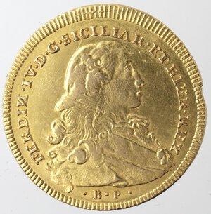 obverse: Napoli. Ferdinando IV. 1759-1798. 6 Ducati 1773. Au.