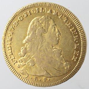 obverse: Napoli. Ferdinando IV. 1759-1799. 6 Ducati 1774. Au.