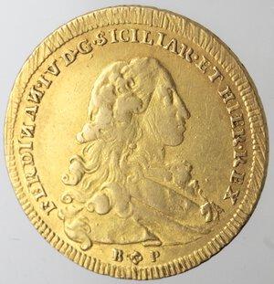 obverse: Napoli. Ferdinando IV. 1759-1799. 6 Ducati 1777. Au.