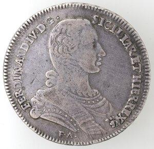 obverse: Napoli. Ferdinando IV. 1759-1798. Piastra 1766. Ag.