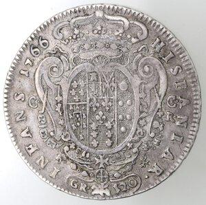 reverse: Napoli. Ferdinando IV. 1759-1798. Piastra 1766. Ag.
