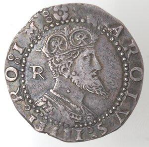 obverse: Napoli. Carlo V. 1516-1554. Tarì. Ag.
