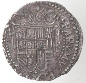 reverse: Napoli. Carlo V. 1516-1554. Tarì. Ag.