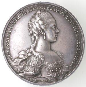 obverse: Napoli. Ferdinando IV. 1759-1799. Piastra Medaglia 1768. Zecca di Vienna. Ag.