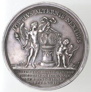 reverse: Napoli. Ferdinando IV. 1759-1799. Piastra Medaglia 1768. Zecca di Vienna. Ag.