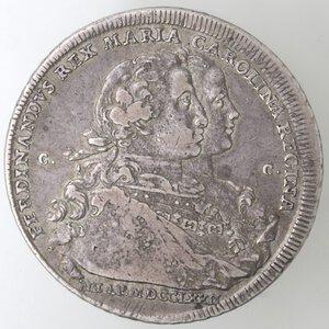 obverse: Napoli. Ferdinando IV. 1759-1798.Piastra 1772. Ag.