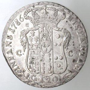reverse: Napoli.Ferdinando IV. 1759-1798.Piastra 1786 P punto. Ag.