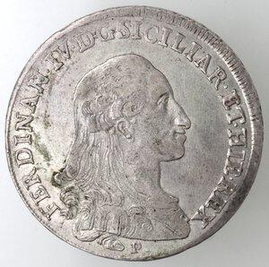 obverse: Napoli.Ferdinando IV. 1759-1798.Piastra 1788 P punto, gigli rovesciati. Ag.