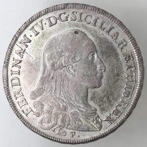 obverse: Napoli.Ferdinando IV. 1759-1798.Piastra 1789 P. Ag.