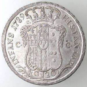 reverse: Napoli.Ferdinando IV. 1759-1798.Piastra 1789 P. Ag.