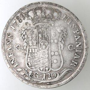 reverse: Napoli.Ferdinando IV. 1759-1798.Piastra 1789 D.P. Ag. Mag. Manca.