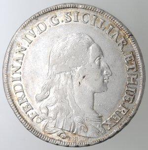 obverse: Napoli.Ferdinando IV. 1759-1798.Piastra 1791.Ag.