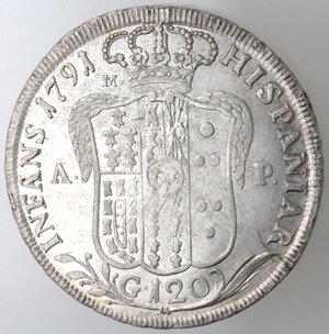 reverse: Napoli.Ferdinando IV. 1759-1798.Piastra 1791.Ag.