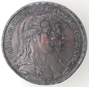 obverse: Napoli.Ferdinando IV (1759-1798).Piastra 1791  PRO FAUSTO .Ag.