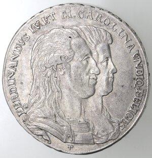 obverse: Napoli.Ferdinando IV. 1759-1798.Piastra 1791  SOLI REDVCI .Ag.