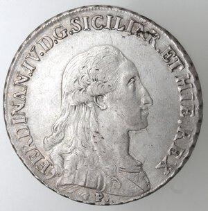 obverse: Napoli.Ferdinando IV. 1759-1798.Piastra 1793.Ag.