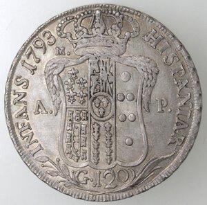 reverse: Napoli.Ferdinando IV. 1759-1798.Piastra 1793.Ag.