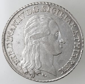 obverse: Napoli. Ferdinando IV. 1759-1799. Piastra 1795 SIGILIAR. Ag.