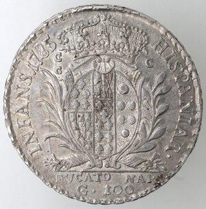 reverse: Napoli.Ferdinando IV. 1759-1798.Ducato 1785.Ag.