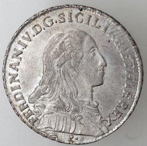 obverse: Napoli.Ferdinando IV. 1759-1798.Mezza Piastra 1793.Ag.