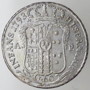 reverse: Napoli.Ferdinando IV. 1759-1798.Mezza Piastra 1793.Ag.