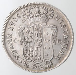 reverse: Napoli. Ferdinando IV. 1759-1798. Tarì 1788. Ag.